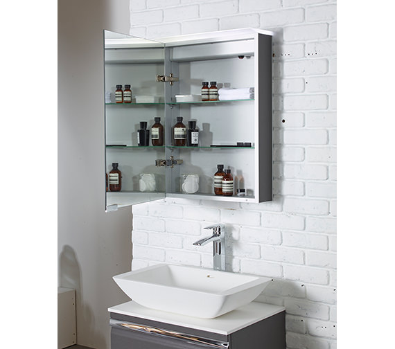 Additional image of Roper Rhodes Virtue 505mm Charcoal Elm LED Illuminated Mirror Cabinet