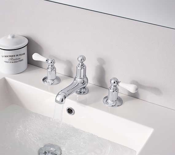 Crosswater Belgravia Lever Chrome 3 Hole Deck Mounted Basin Mixer Tap