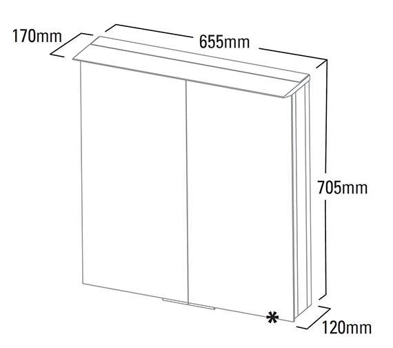Technical drawing QS-V6117 / VS65ALPD