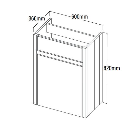 Technical drawing QS-V4175 / HAM600BTW.W
