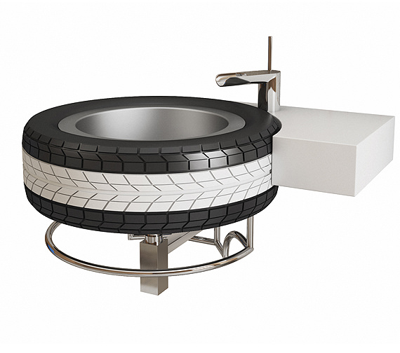 QS Supplies Mac Wheel Basin With Bottle Trap - MACW23871