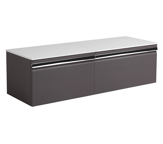 Roper Rhodes Pursuit Charcoal Elm 1200 x 370mm Wall Mounted Unit