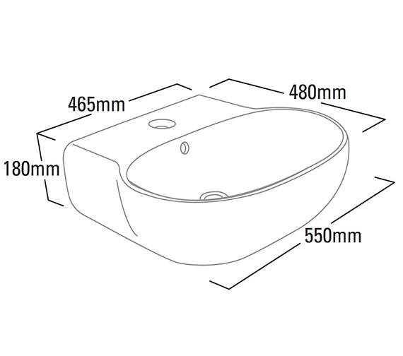 Technical drawing QS-V6158 / ME55SB