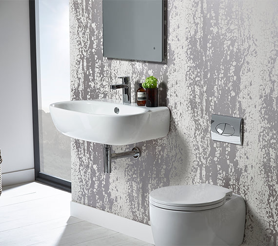 Additional image of Roper Rhodes Memo 550mm Wall Mounted Or Countertop Basin - ME55SB