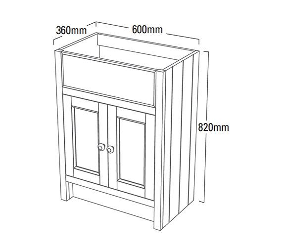 Technical drawing QS-V4179 / HAM600SCT.W
