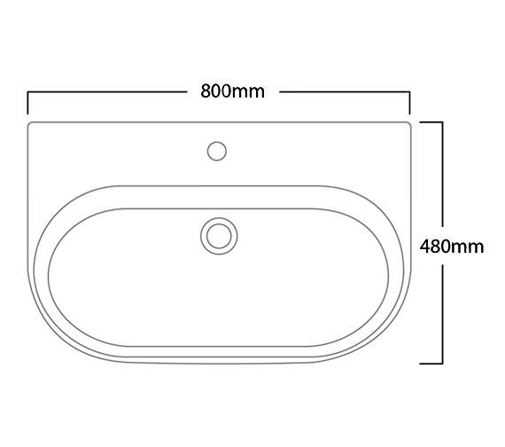 Technical drawing QS-V6154 / E80SB