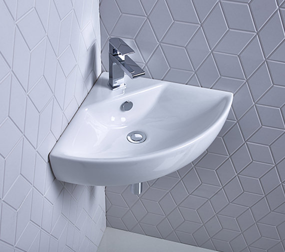 Roper Rhodes Zest 630mm Corner Basin With Overflow - Z45CB