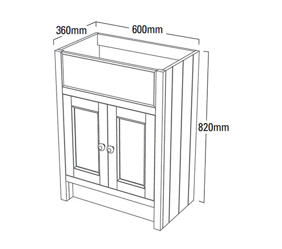 Technical drawing QS-V4178 / HAM600SCT.NO