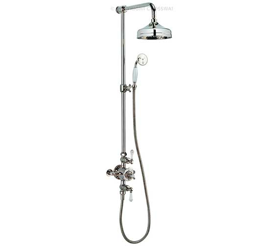 Additional image of Crosswater Belgravia Nickel Thermostatic Rigid Riser - Handset And Bracket