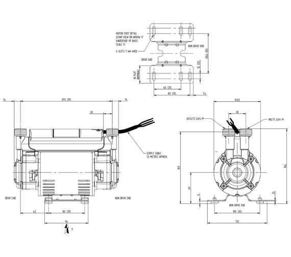 Technical drawing QS-V72918 / 46502