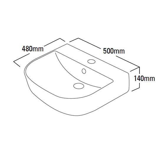 Technical drawing QS-V4190 / Z50SB