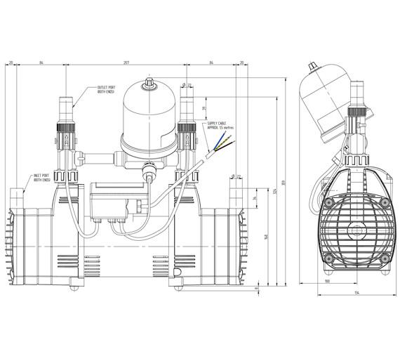 Technical drawing QS-V72922 / 49081