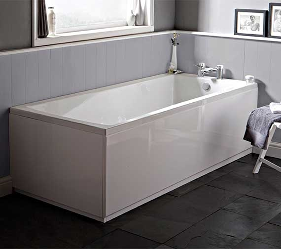 Hudson Reed Classic Square 1600 x 700mm Single Ended Bath With Eternalite