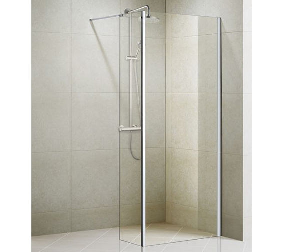 Aqualux Aqua 8 Vibe Walk In Shower Panel 1000mm - 1159238