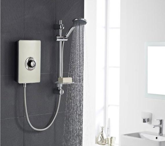 Vado Elegance 9.5kW Electric Shower - Metallic