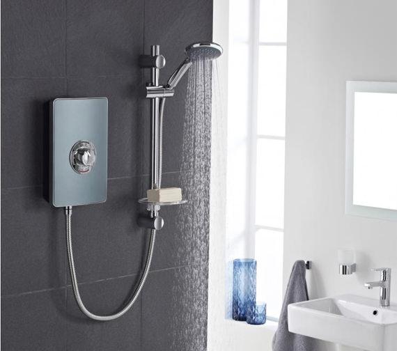 Alternate image of Vado Elegance 9.5kW Electric Shower - Metallic