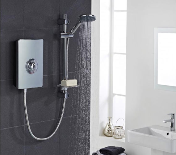 Vado Elegance Metallic And Chrome Electric Shower 9.5kW ...