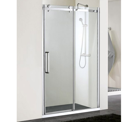 Aqualux aqua 8 vibe sliding shower door 1200mm 1159253 for 1200mm shower door sliding