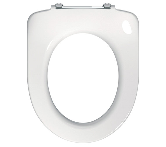 Twyford E100 Round Toilet Seat Ring With Metal Top Fix Hinge