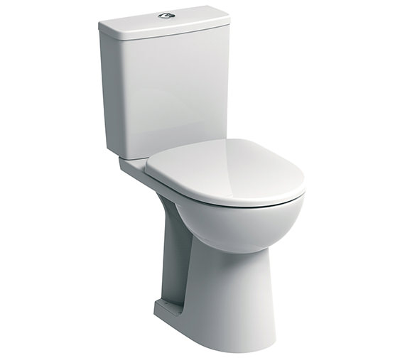 Twyford E100 Square Raised 460mm Height Close Coupled WC Suite