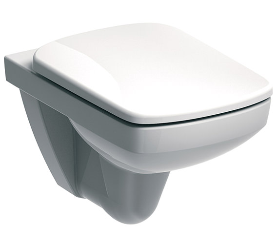 Twyford E100 Square Flushwise Wall Hung WC Pan 530mm - E11709WH