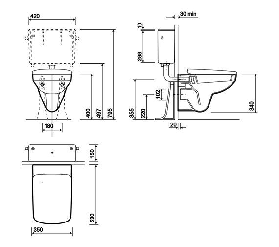 Technical drawing QS-V10214 / E11709WH