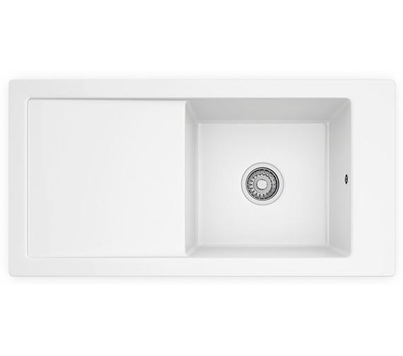 Franke Ceramic Sink : Franke Aspen ANK 611 Ceramic White 1.0 Bowl Inset Sink 124.0318.857