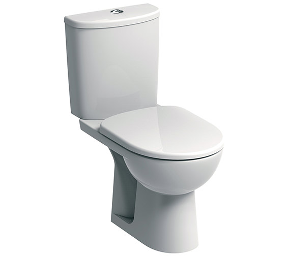 Twyford E100 Round Standard Close Coupled WC Pan 670mm And Cistern