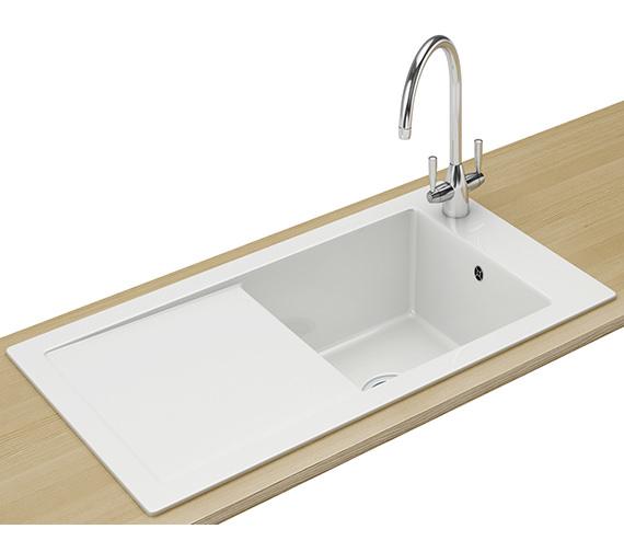 Franke Aspen Designer Pack ANK 611 Ceramic White Inset Sink And Tap