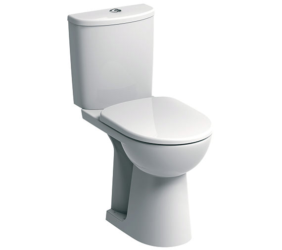 Twyford E100 Round Raised 460mm Height Close Coupled WC Suite