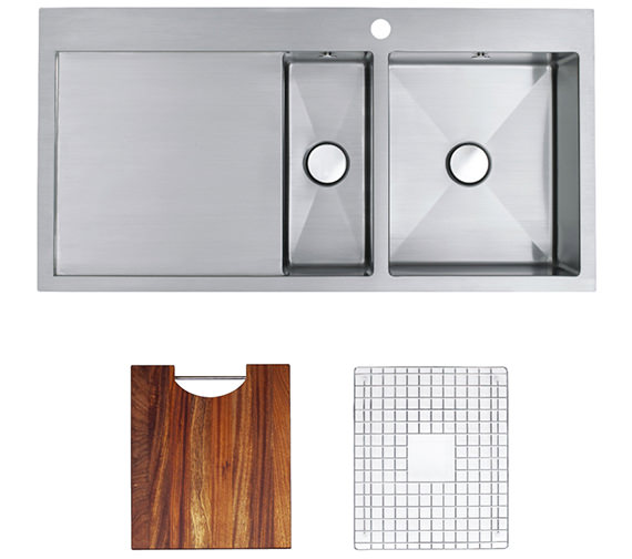 Astracast Vantage 1.5 Bowl Stainless Steel Inset Sink And Accessory