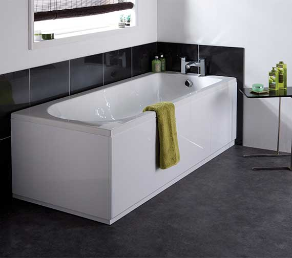 Nuie Premier Barmby 1800 x 800mm Eternalite Single Ended Acrylic Bath