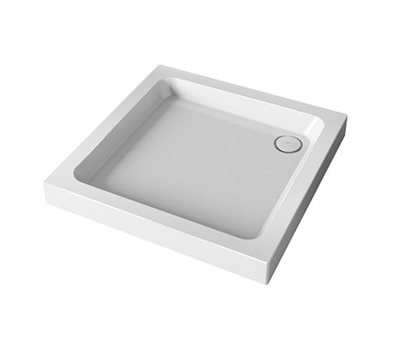 Mira Flight 760mm Square 2 Up-stand Shower Tray With Waste
