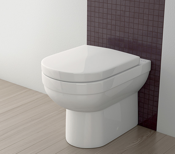 Silverdale Richmond White Soft Close Toilet Seat With Chrome Hinges