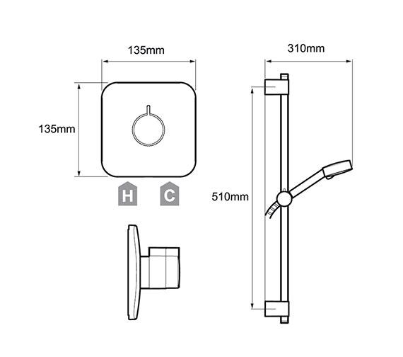 Technical drawing QS-V78648 / 1.1736.423