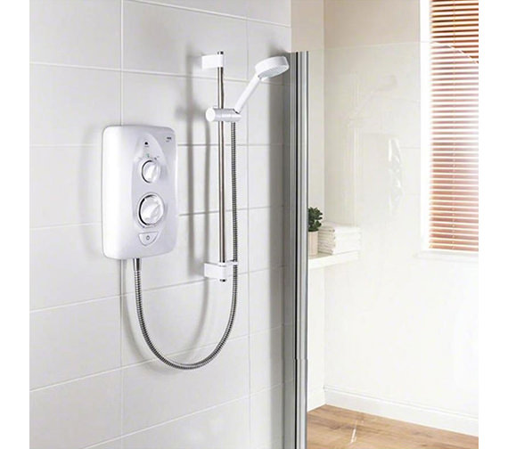 Mira Jump 9.5kw Electric Shower White And Chrome