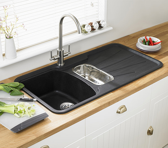 Additional image of Astracast Korona 1.5B Composite ROK Metallic Inset Sink And Accessories