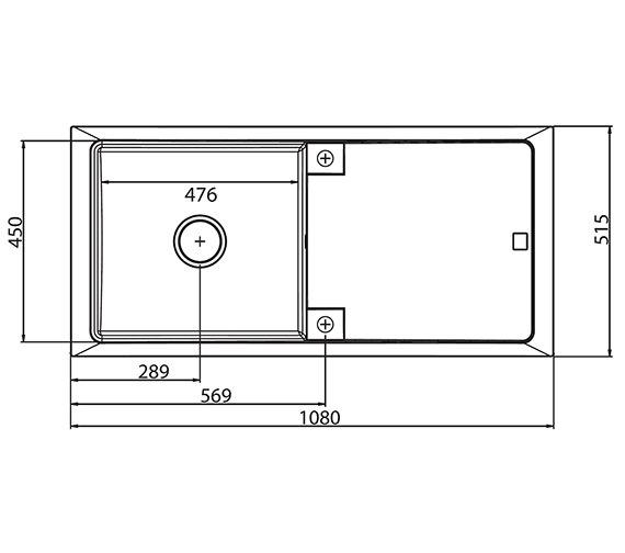 Technical drawing QS-V27814 / CT10RZHOMEPK5