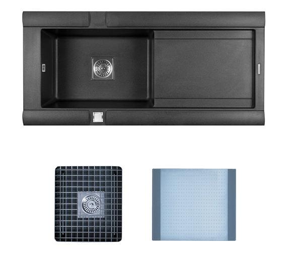 Astracast Geo 1.0 Bowl Composite ROK Metallic Inset Sink And Accessories