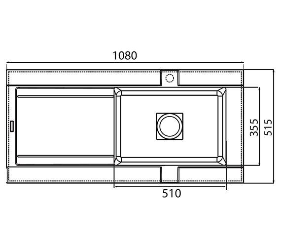Technical drawing QS-V27816 / GE10RZHOMEPK5