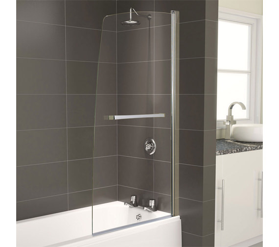 Aqualux Aqua 5 Half Frame Bath Screen 800 x 1500mm - FBS0239AQU