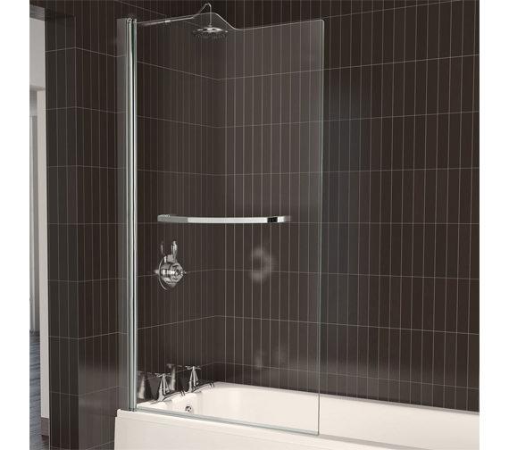 Aqualux Aqua 5 Stepped Bath Screen 820 x 1500mm - FBS0067AQU