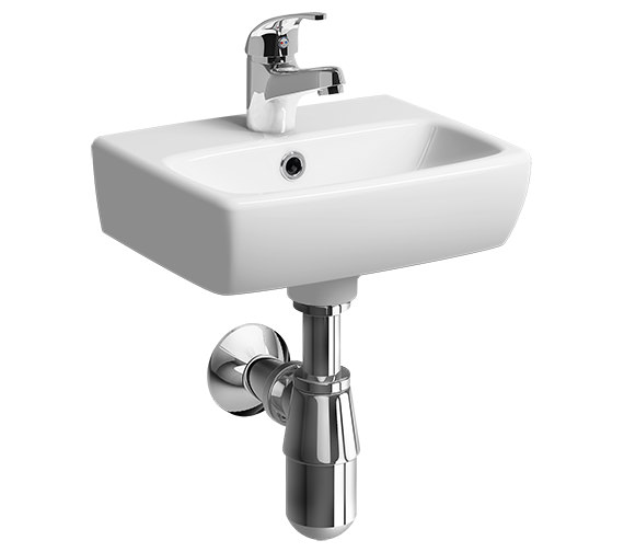 Twyford E100 Square 360 x 280mm Handrinse Washbasin
