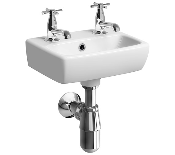 Additional image of Twyford E100 Square 360 x 280mm Handrinse Washbasin