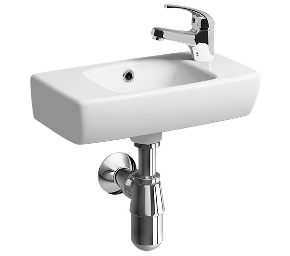 Twyford E100 Square Handrinse Basin 450 x 250mm 1 Tap Hole