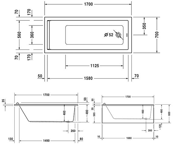 Technical drawing QS-V63268 / 760334000JS1000