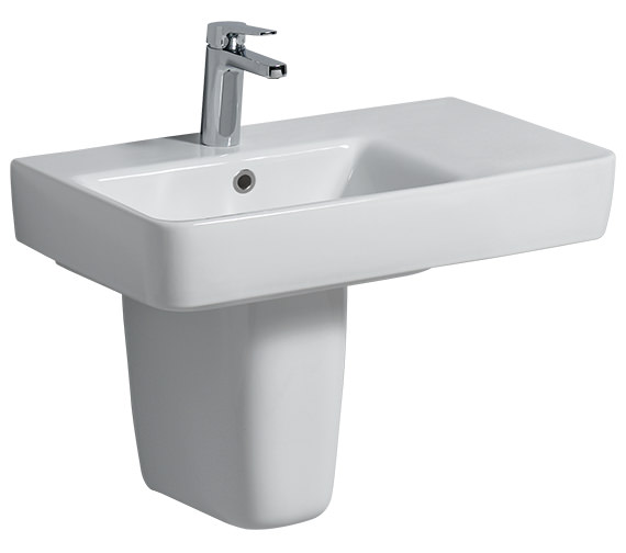 Twyford E200 650 x 370mm Right Hand Shelf Basin
