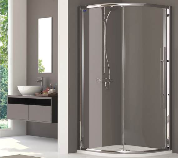 Showerlux Linea Touch Quadrant Single Door 900 x 900mm - 1930900500