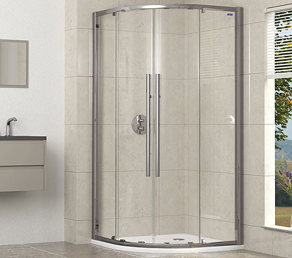 Showerlux Linea Touch Quadrant Twin Door 800 x 800mm - 1910800500