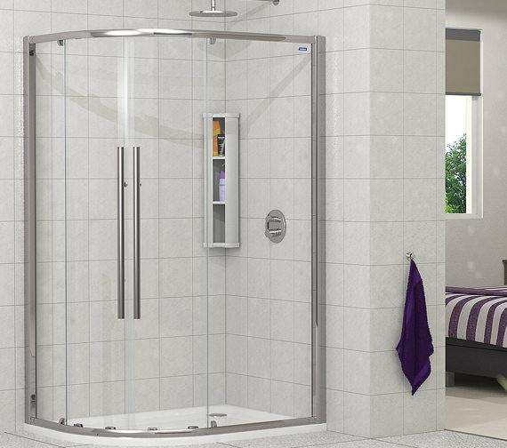 Showerlux Linea Touch Offset Quadrant Twin Door 1200 x 800mm